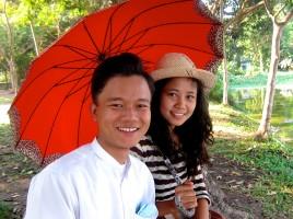 Amoureux bancs Yangon