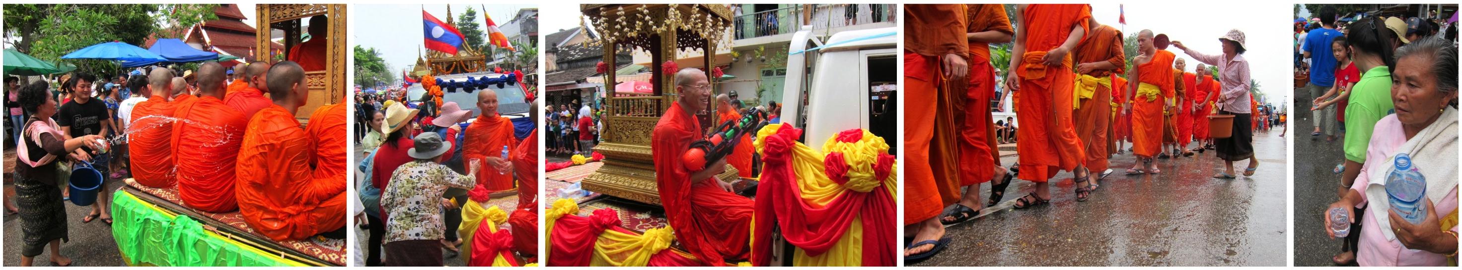 Les moines à l'eau