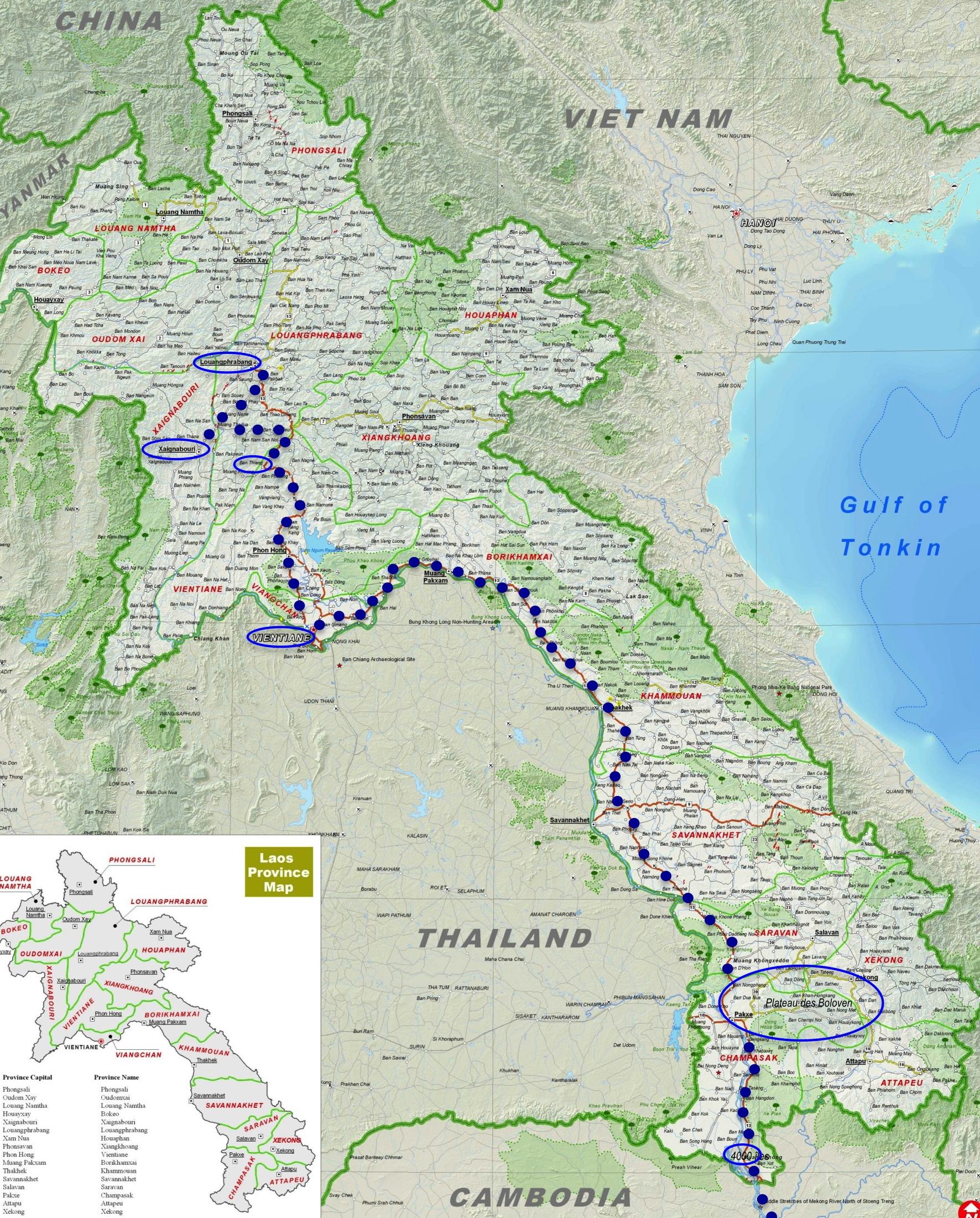 Les trajets au laos
