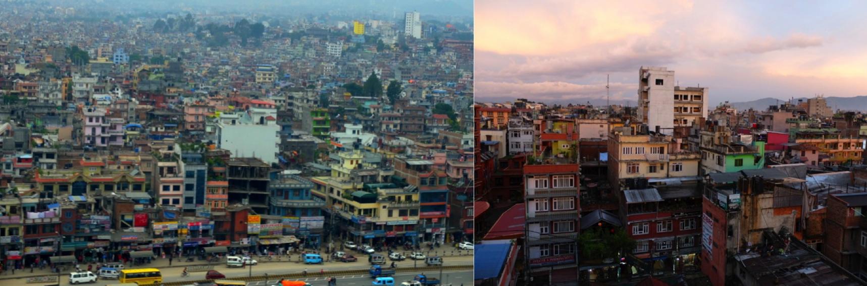 Kathmandu vu du ciel