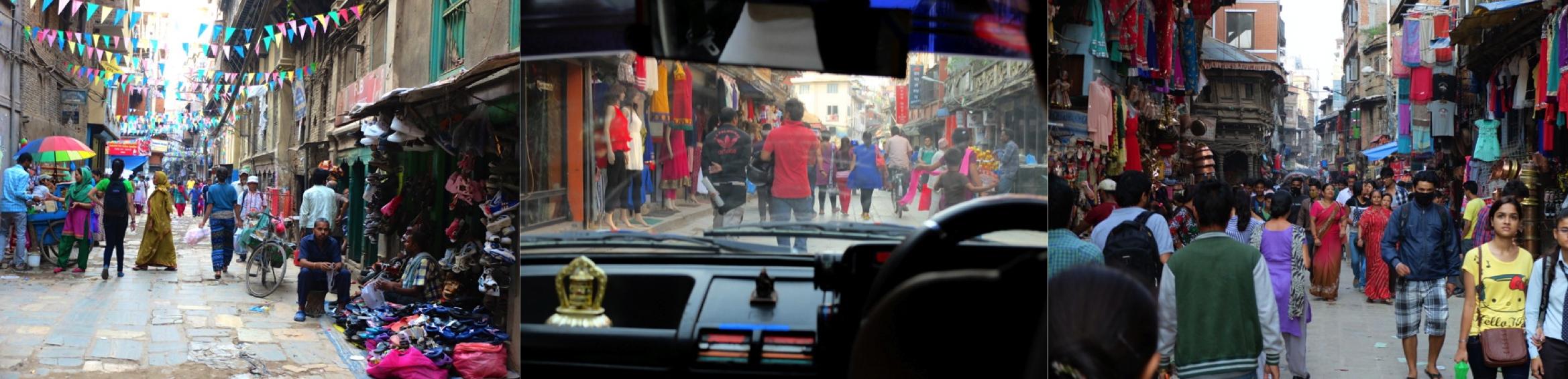 Les rues de Kathmandu