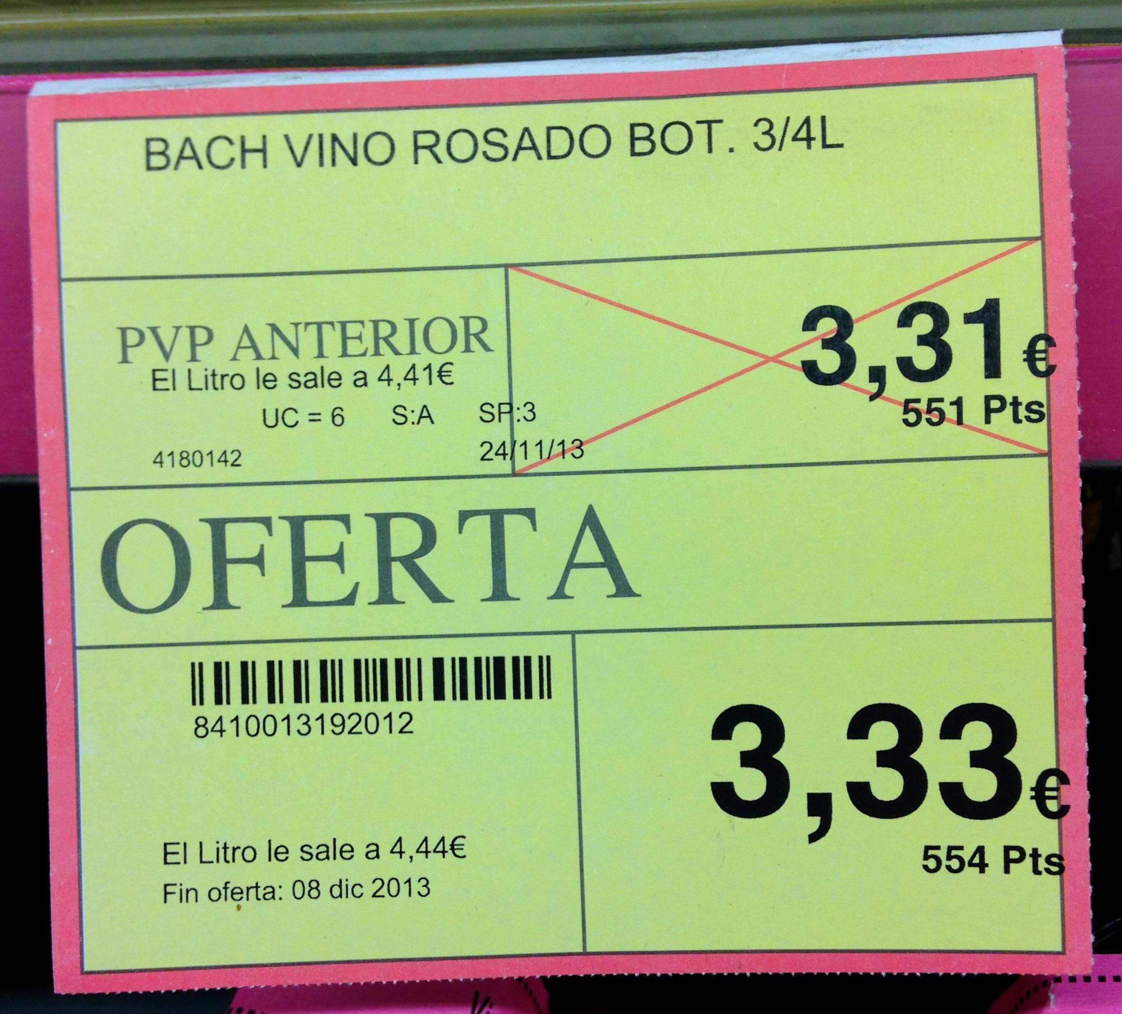 La notion de soldes assez floue en Espagne. Je ne suis pas douée avec les chiffres, mais là, quand même…